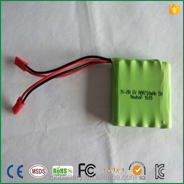 6v aa 600mah ni mh battery pack rechargeable for solar light