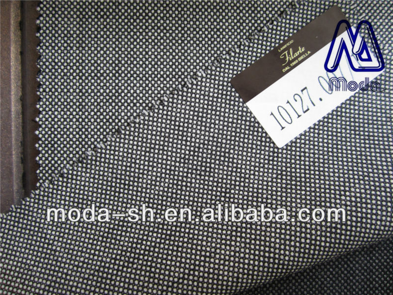 light grey color super180 100%wool suit fabric worsted dotted 10127.007/1