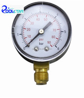 "Air Compressor Pressure Gauge Side Mount 1/4"" P2228"
