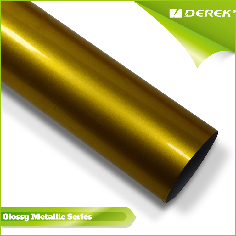Hot Sale Glossy Metallic mirror chrome gold car wrap film for Color Change