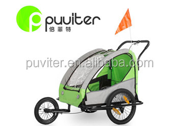 Factory Directly Pet Bike Trailer Dog Cat Bicycle Pram Stroller Jogger Foldable(PT001)