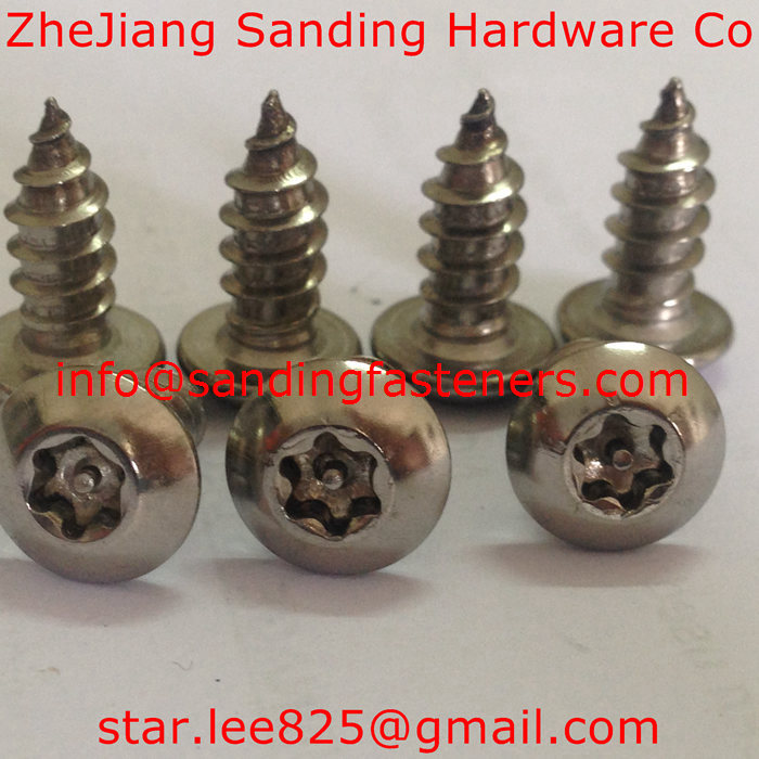 stainless steel pan head anti-theft drive self tapping screw