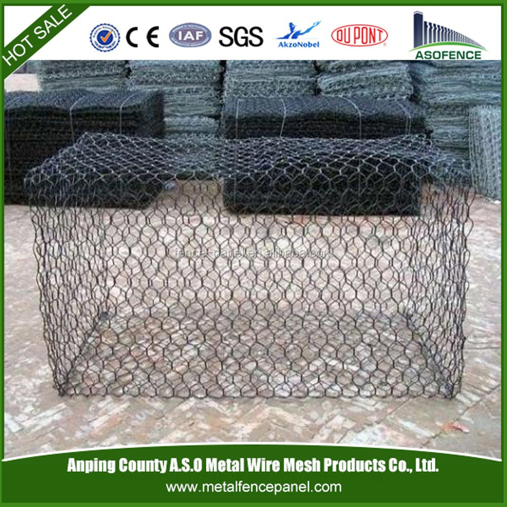 Anping factory supply pvc coated gabion wire mesh