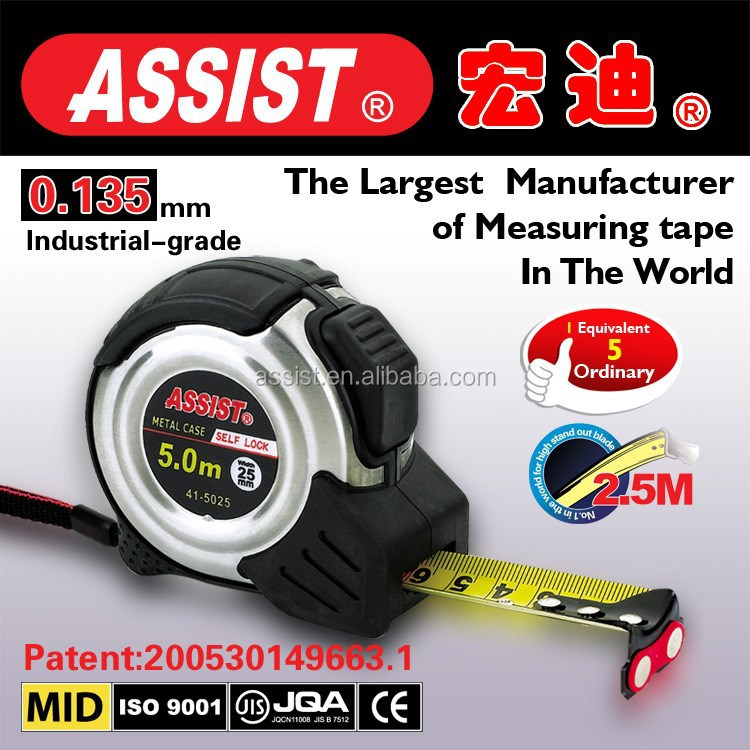 Assist measuring tape factory directly supply retractable metal stainless steel tape measure