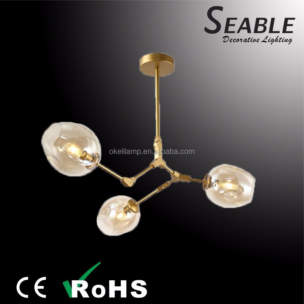 Creative Glass Ball Molecular Design Modern Chandelier Light On Alibaba Com