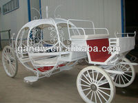 Romantic Cindella Wedding Horse carriage carts
