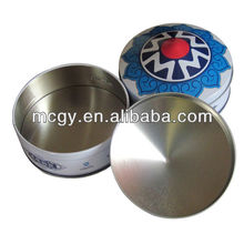 Special Round Empty Small Metal Candy Tin Box empty cookie gift tins