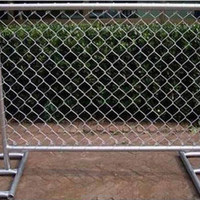 temporary pvc galvanized chain link fence panels hot sale
