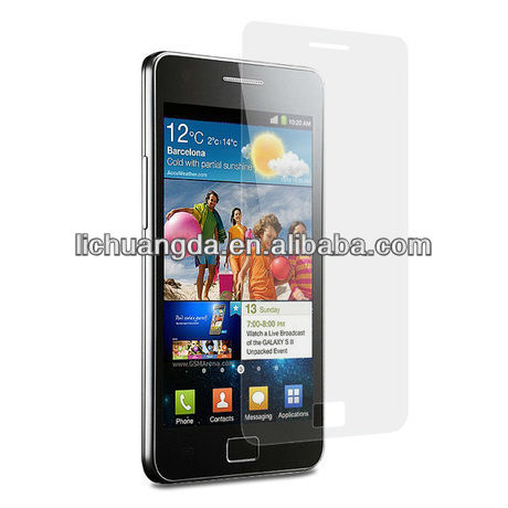 i9100 S2 clear screen guard with korea skc material