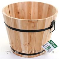 home hall decorative colorful wood planter oak barrel