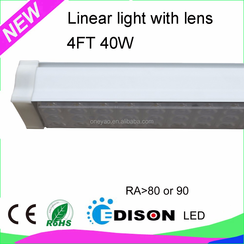 5 years warranty CRI80 or 90 4FT 50*50 40W track padent LED linear light
