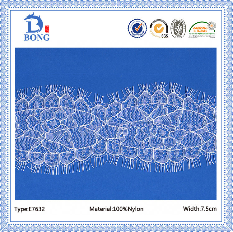 factory supply nylon eyelash lace manufacturer