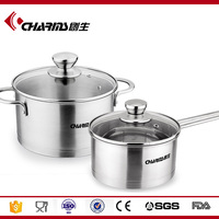 2016 Charms New Arrival 4 pcs Stainless Steel Cookware Set Cookware Pot Cooking Pot