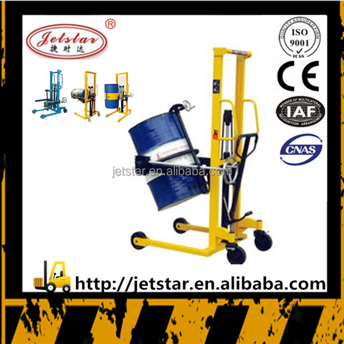 500kg hand manual oil drum hydraulic pallet forklift