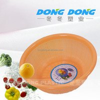 Hot sale colorful round plastic vegetable storage basket,plastic storage basket