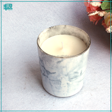 FengJun 135g spray paint marble scented jar candle