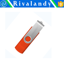 Mini metal swivel USB drive custom usb flash drive clip 4gb flash drive