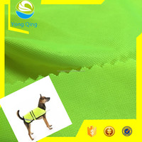 Fluorescent yellow plain fabric for reflective dog vest