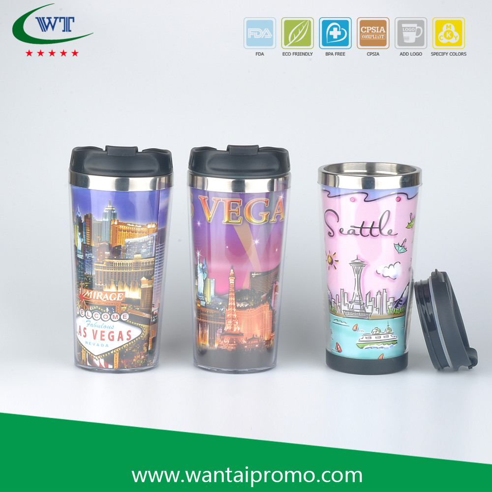 Plastic Mugs With Company Logo Promotional Coffee Coffe Mug