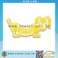 Cartoon dog design embroidery patch for jeans/ bag/ hat