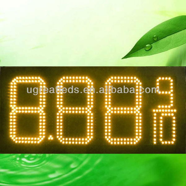 "10"" 8.88 9/10 Led Petrol Price Display Red, Green, Amber"