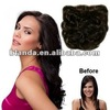 top quality beauty belle indian hair 3/4 full head clip in deep wave hair extension