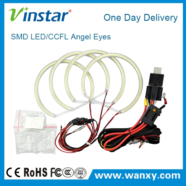 Vinstar High quality 6000K LED Angel Ring For BMW E46 Non projector LED Angel eyes E46 A+B LED Angel eyes