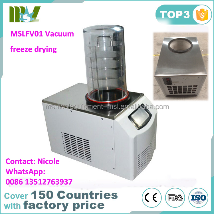 MSLFV01 portable food Freeze dryer/industrial freeze dryer/ laboratory vacuum freeze drying machine