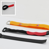Adjustable hook and loop belt straps wtih Plastic buckle