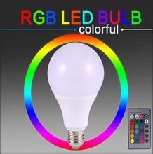 E27 RGB Led Bulb Home Lighting Holiday Dimmable Lamp Intelligent Bulb COB 3W 5W 7W Remote Control 16 Color Change 110V 220V