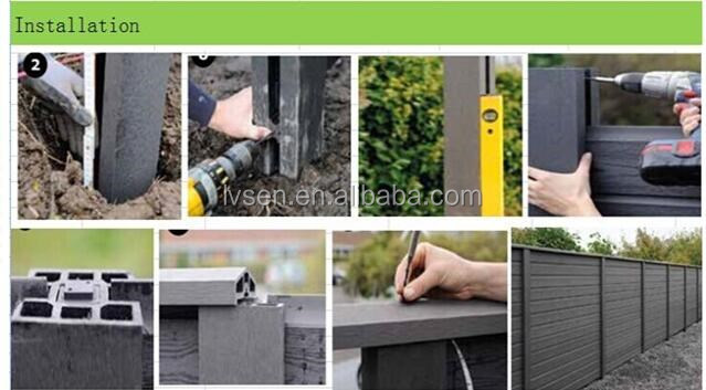 outdoor WPC wood- plastic composite railing fencing and post