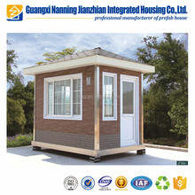 Prefab metal kiosk booth outdoor stainless steel mini house