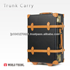 High quality vintage style leather suitcase made by japan