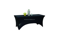 polyester spandex rectangle wedding table cover restaurant table cloth