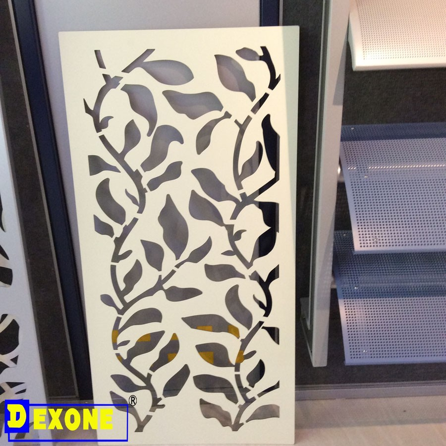Aluminum black color laser cut fence panel as decoration for Aluminium decoration