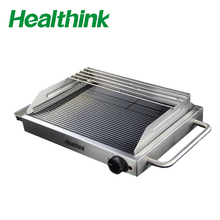Portable ceramic and teppanyaki barbecue glass grill machine