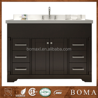 New Modern Design Emperador Dark Marble Bathroom Vanity Tops