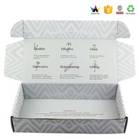 White Flute Corrugated Box Glossy Corrugated