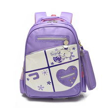 2017 New Wholesale Large Capacity Cute Girl Child Fashion School Bags With Pen Bag