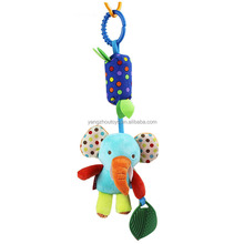 hot sale baby infant rattle animal stroller car seat pram hanging wholesale wind chime tube
