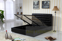 hydraulic storage bed, double bed with storage, lift storage bed