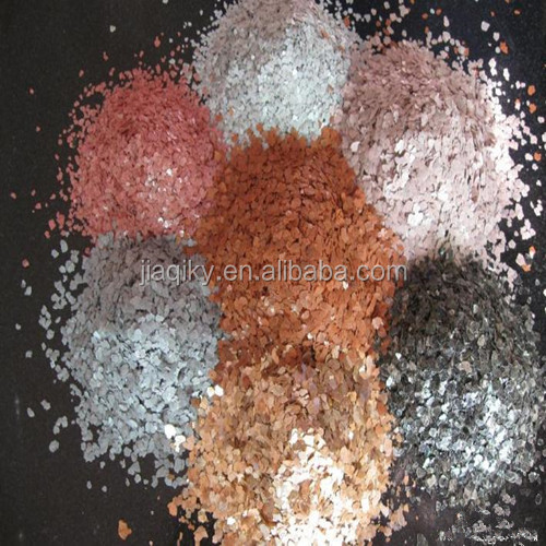 Colorful mica powder for ceramic use