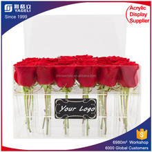 Acrylic rose storage gift box acrylic pots for plants