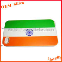 Fashion promotion print India Flag cellphone silicone rubber cover for phone 4s
