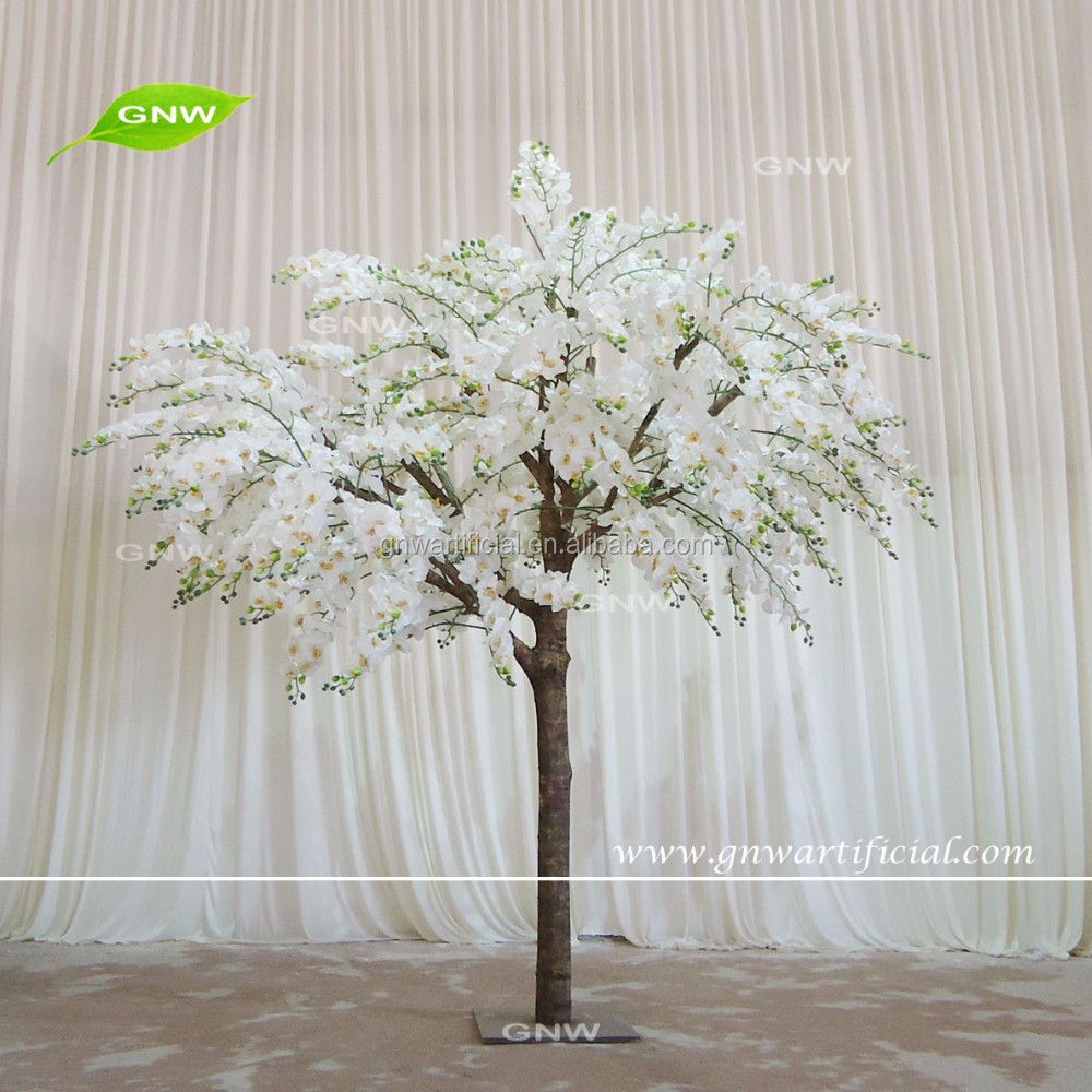 GNW BLS1606003-OR Near natural New fashion artificial orchid trees for home decorations