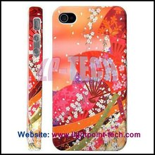 Floral Protective Hard Cover for iPhone4 Accessories