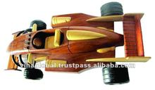 Handmade Wooden Formulai Toy Cars