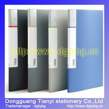 60 pages display book paper expanding file holder