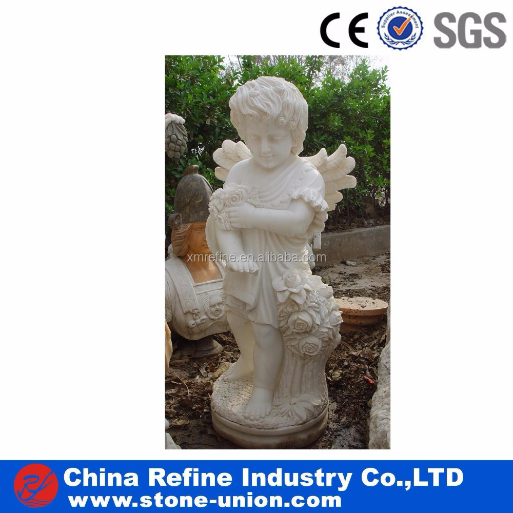 Natural Carved Kids Statue Marble Modern Sculpture UK