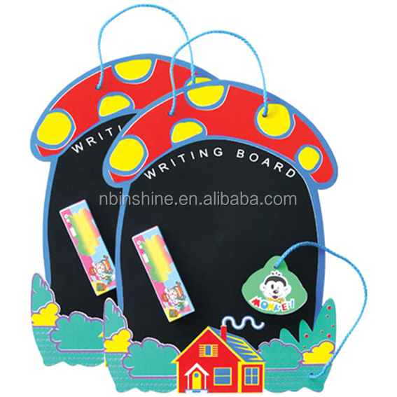 Child hang rope mushroom shape blackboard , funny hanging Chalkboard